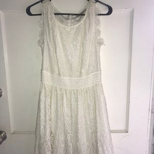 Cream Colored lace dress by Darling Size XS